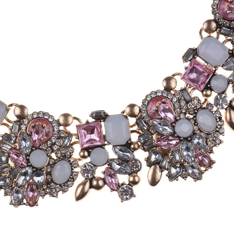 Modă de stras de cristal colier de nuntă coliere femei declarație - Bijuterii de moda - Fotografie 5