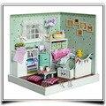 F007 Wizard of Oz (com tampa protetora contra poeira) quarto casa de bonecas diy casa de boneca quarto