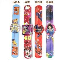 6pcs/bag Disney Watch Assorted Cartoon Slap Electronic Bracelets Kids Event Supplies Boys Girls Birthday Party  Toys