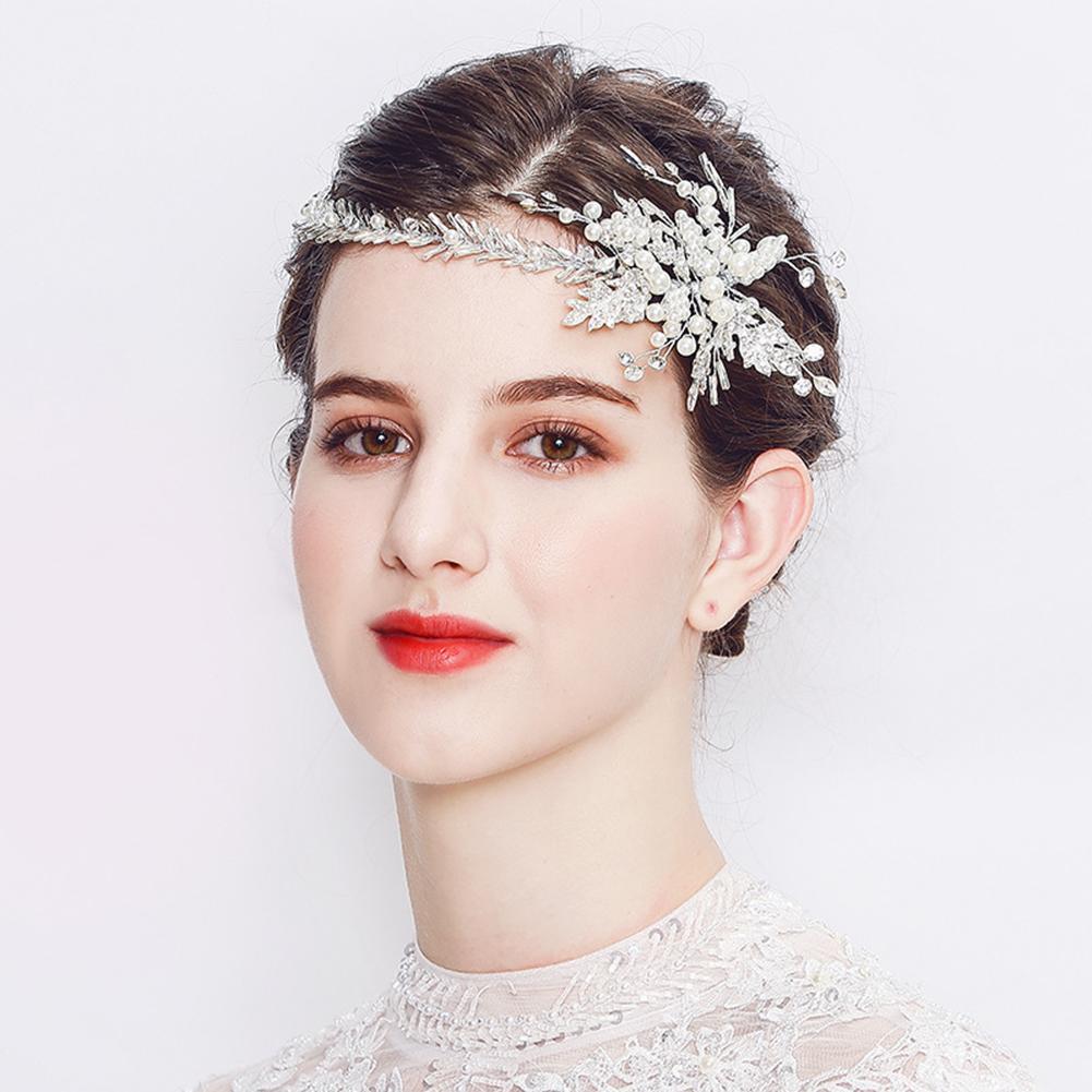 Flower Branch Faux Pearl Rhinestone Wedding Hair Vine Headband Bridal Headwear new
