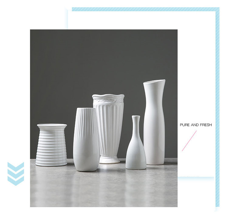 White Ceramic Vases 5