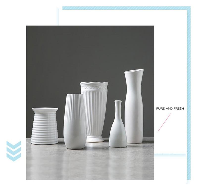 White Ceramic Vases 5