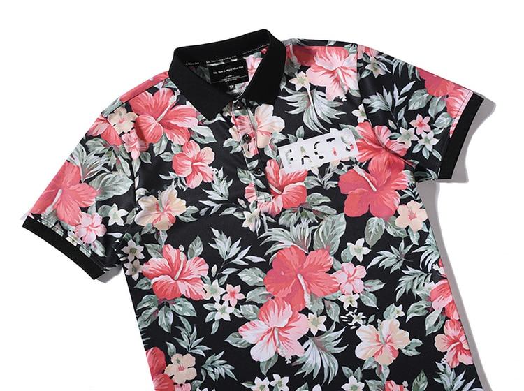 aliexpress: acheter 2017 fleur d'été polo chemises hommes
