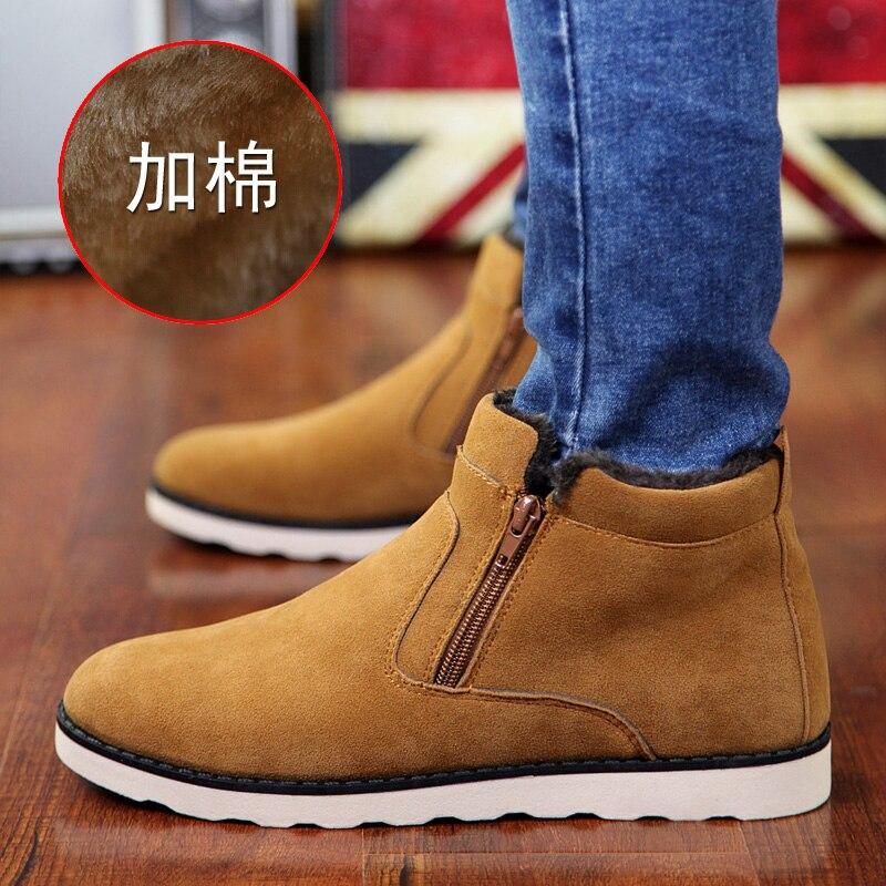2019 die Neueste Mode flachem boden Freizeit Schnee Stiefel Arbeit Winter Stiefel Bare Stiefel Nicht-slip leichte Kurze rohr Plus Velve