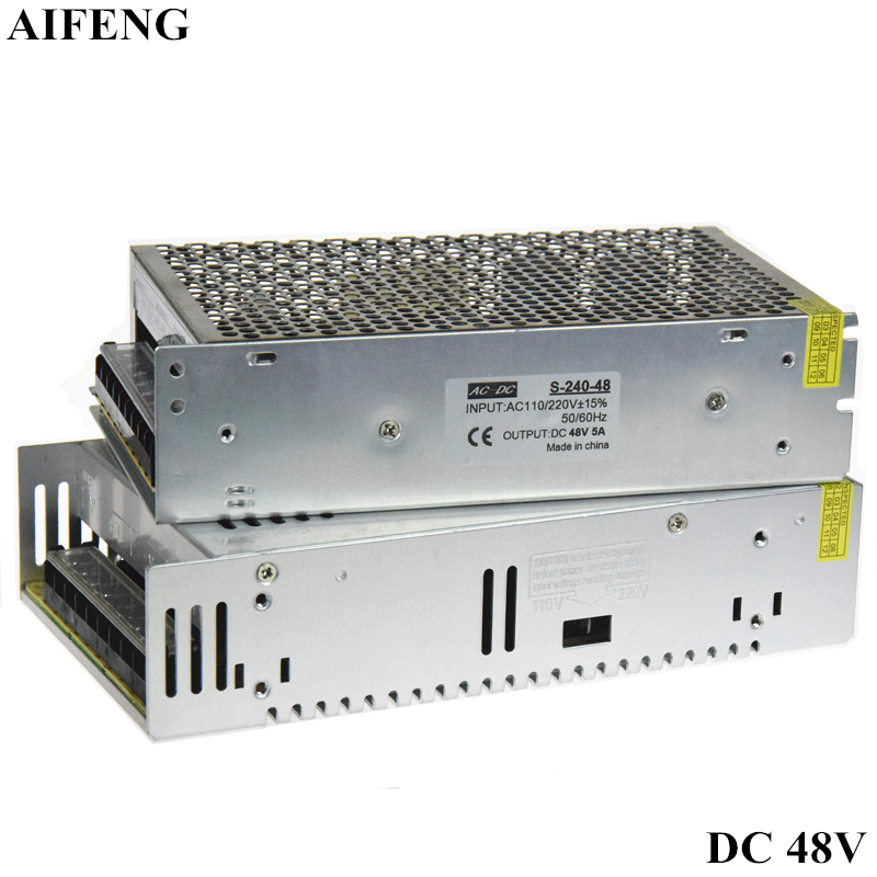 AIFENG Switching Power Supply Adapter 240W 360W 220V 110V AC To DC48V 5A 7.5A Driver Power Supply For Led Strip Mechanical Motor best quality 12v 15a 180w switching power supply driver for led strip ac 100 240v input to dc 12v
