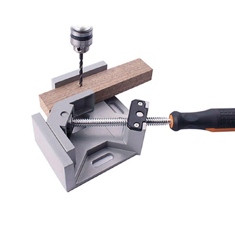 רשימת הקטגוריות 90 כלים לעיבוד עץ ידית תואר סגסוגת אלומיניום זווית ישרה קלאמפ יחיד ריתוך פלייר מתכוונן קרפנטר קליפ זווית ישרה (3)