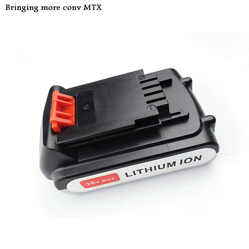 Hot sell 20V 2000mAh Li-ion Rechargeable Battery Power Tool Replacement Battery for BLACK & DECKER LB20 LBX20 LBXR20 rechargeable 2000mah backup battery case for blackberry 8520 9300 black actual 1400mah