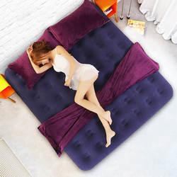 Портативный надувная кровать универсальный мебель для спальни квадратный бархат теплые мягкие кровати с насосом открытый туристический
