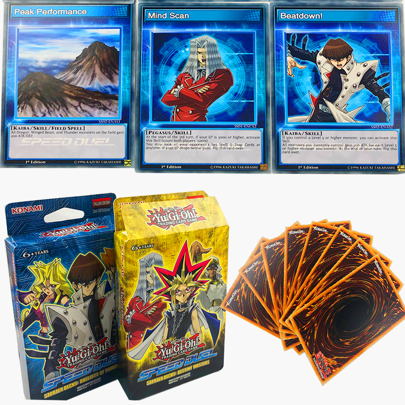 Yu Gi Oh Trading Game Cards Legendary Dragon Decks English Cards Anime Yugioh Game Cards For Collection Speed Duel image