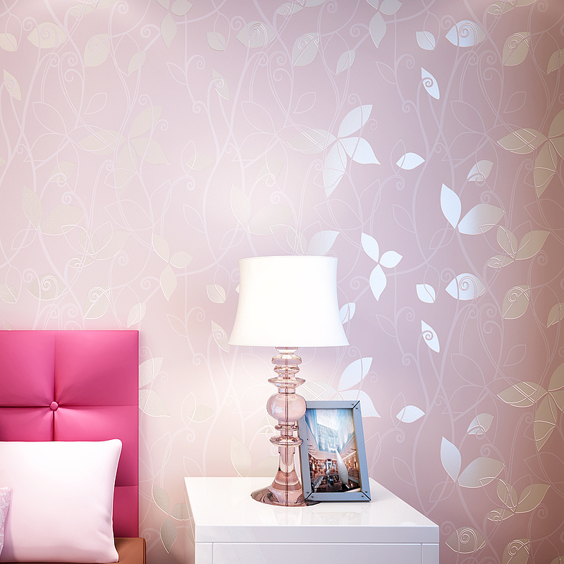 Modern Non-Woven Wallpaper Floral Wallpapers 3D Flower Wall Covering Papel De Pared For Bedroom Decorative 3D Wall Papers Decor