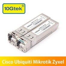 זוג 20km 10Gb SFP BIDI עבור SFP 10G BXD I/SFP 10G BXU I משדר אופטי מודול LC SMF עבור Ubiquiti Mikrotik zyxel וכו .