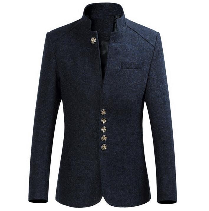 Automne hiver jeune chine vent épaissir manteau hommes chinois tunique costume décontracté décontracté costume col montant grande taille 6XL