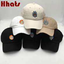which in shower cotton embroidery Rick and Morty cap cartoon Rick Smoking dad hats for women men hip hop snapback baseball caps