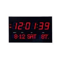 LED digital dot matrix wall clock Large led digital wall ckock with thermometer modern electronic led clock living room clock