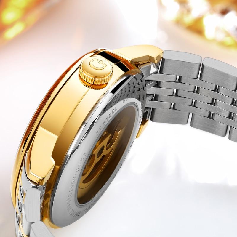 Top Brand GUANQIN Relojes de lujo para hombre Relojes mecánicos Gold - Relojes para hombres - foto 3