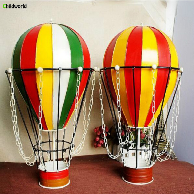 Vintage Home Decorations Metal Hot Air Balloon Model Metal