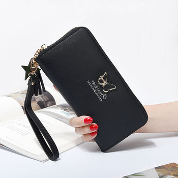 2018 New Long Women Wallet Butterfly Hollowed Best Wallet Female Case Phone Pocket Pouch Handbag Women's Purse Carteira Femme