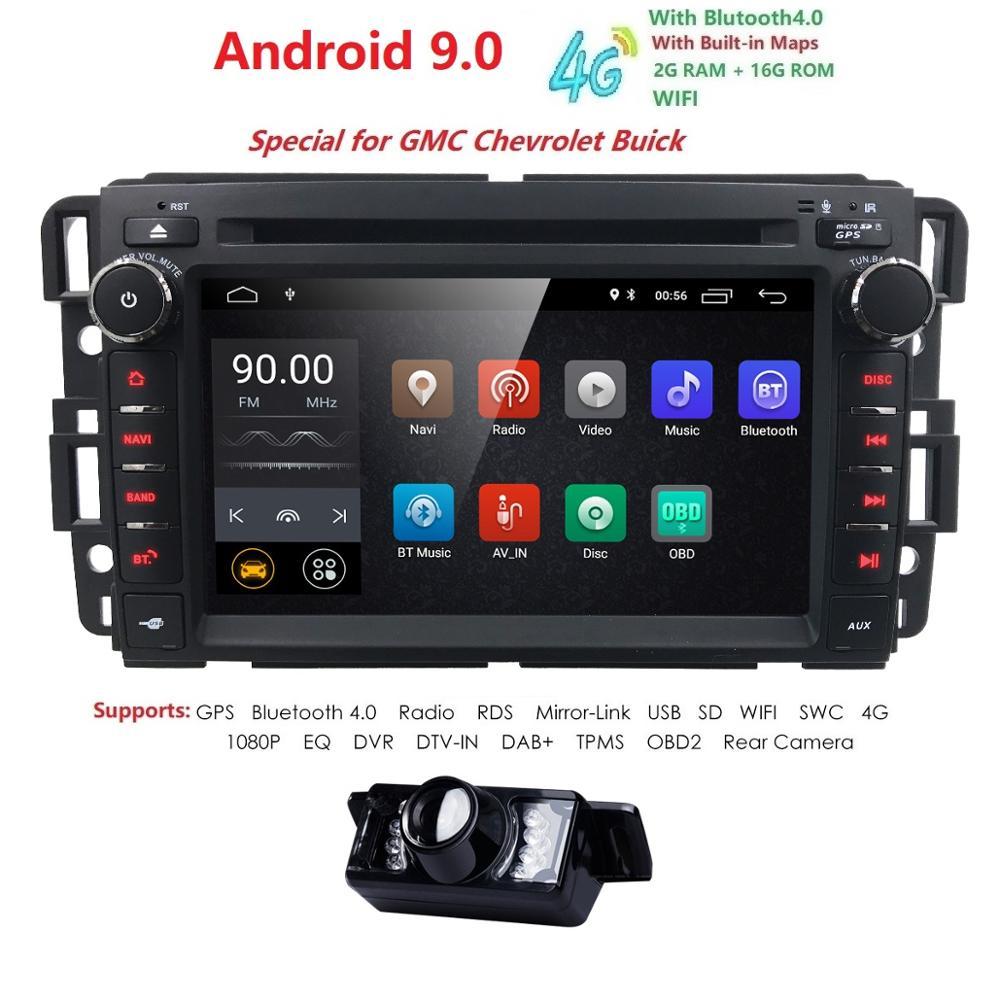 4GWIFI Android9 0 2GRAM 16GROM QuadCore Car DVD Multimedia Player Radio For Chevrolet Avalanche Equinox HHR