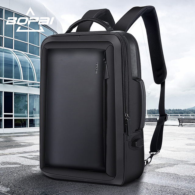 Bopai Best Professional Men Business Backpack Travel Waterproof Slim Laptop School Bag Office