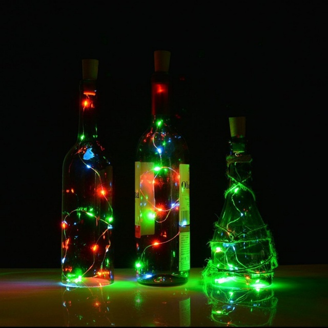 20 LEDs Copper Wire String Light with Bottle Stopper  Fairy Lamp Valentines Wedding Party Xmas Home Decoration