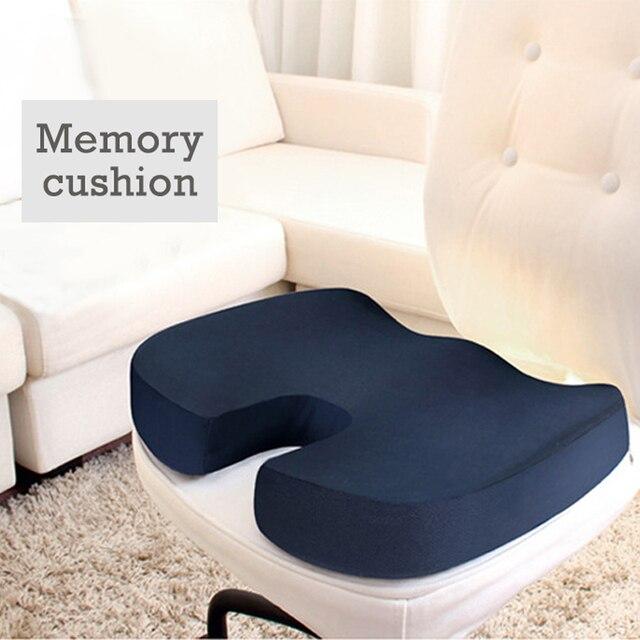 Office Seat Cushion Memory Foam Chair Pads Almofada Breathable Coccyx  Orthopedic U Shape Seat Massage Cushion