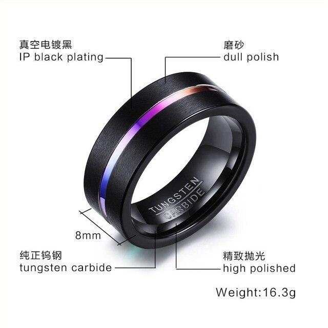 кольца мужские вольфрамовые стильные ювелирные украшения для фотография