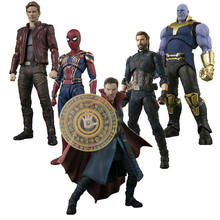 S.H. Figuarts Avengers Star Load Black Widow Captain America Infinity War PVC Figure(China)