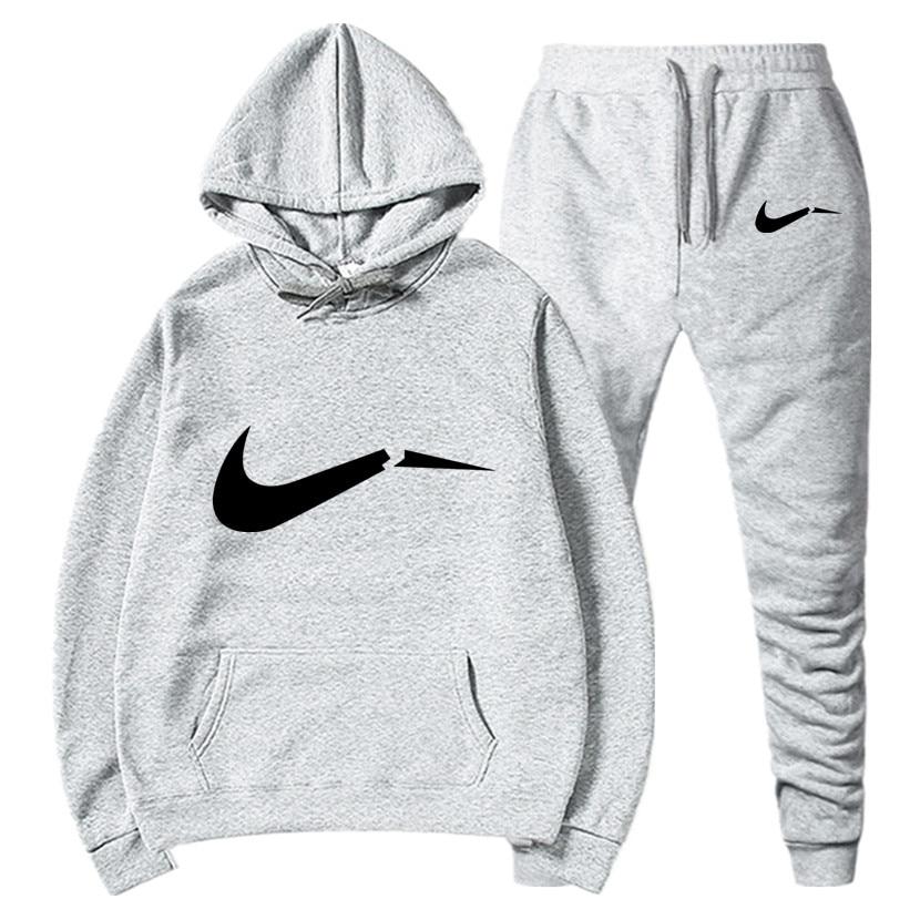 Tracksuit Men 2019 Autumn Fashion Casual Mens Track Suit Long Sleeve Hoodies Sweatshirt+Pants Casual Mens 2 Piece Set
