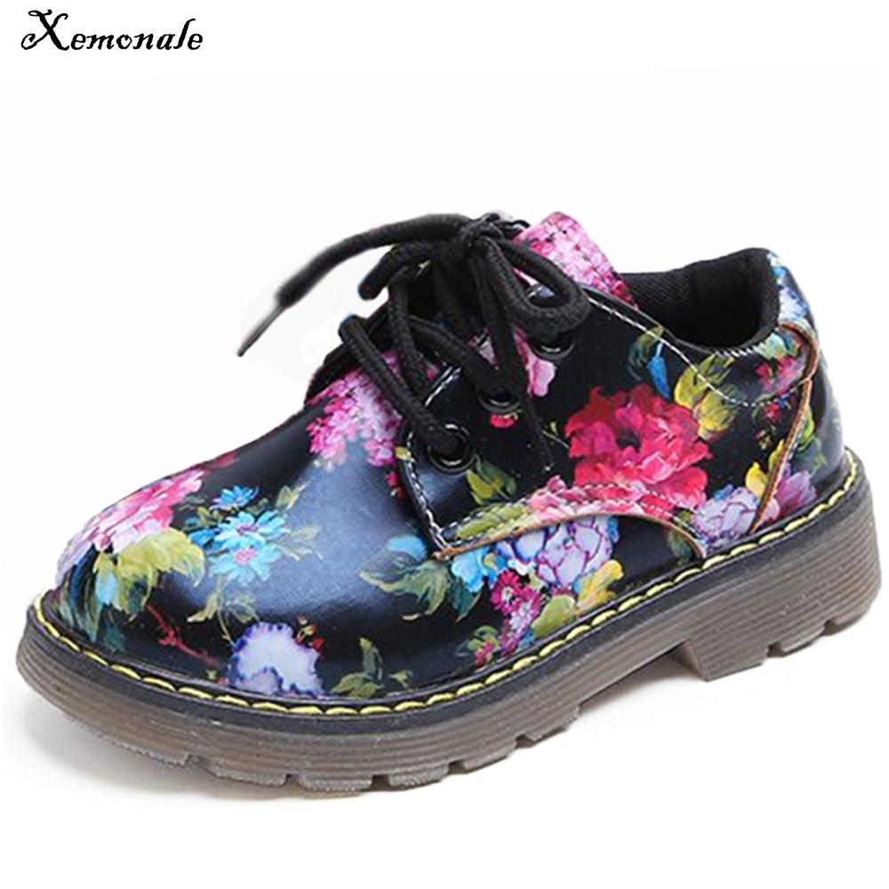 Xemonale zapatos para niños moda Casual Floral Cute niño niños zapatillas transpirable bebé niñas zapatos botas