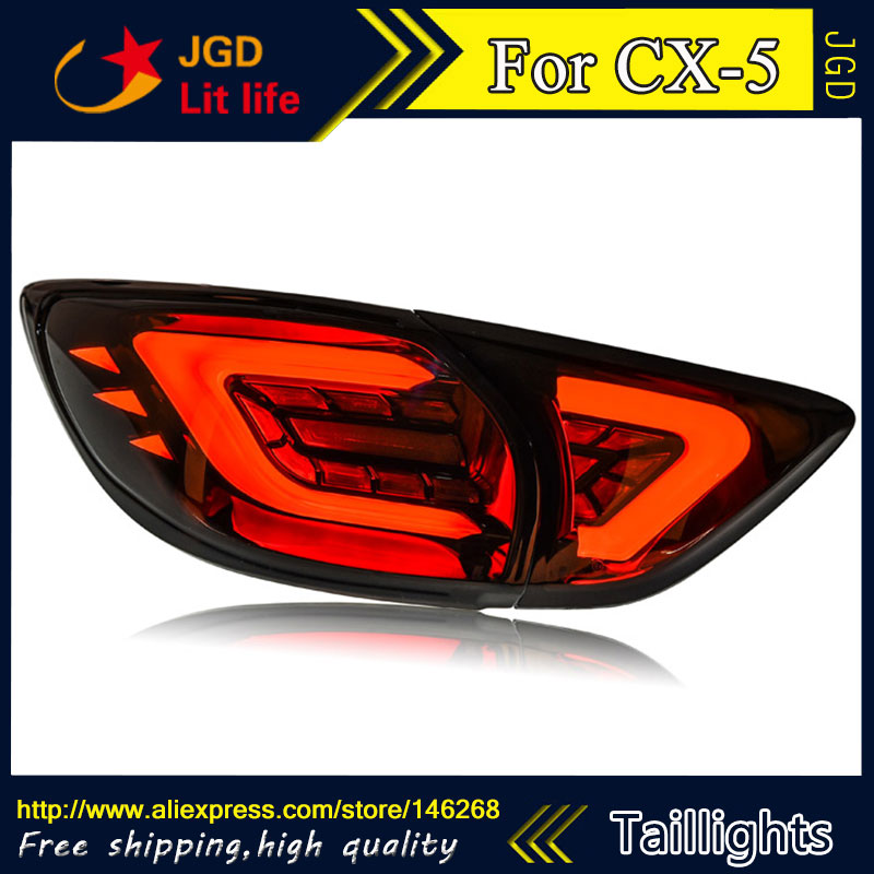 Car Styling tail lights for Mazda CX 5 taillights LED Tail Lamp rear trunk lamp cover drl+signal+brake+reverse