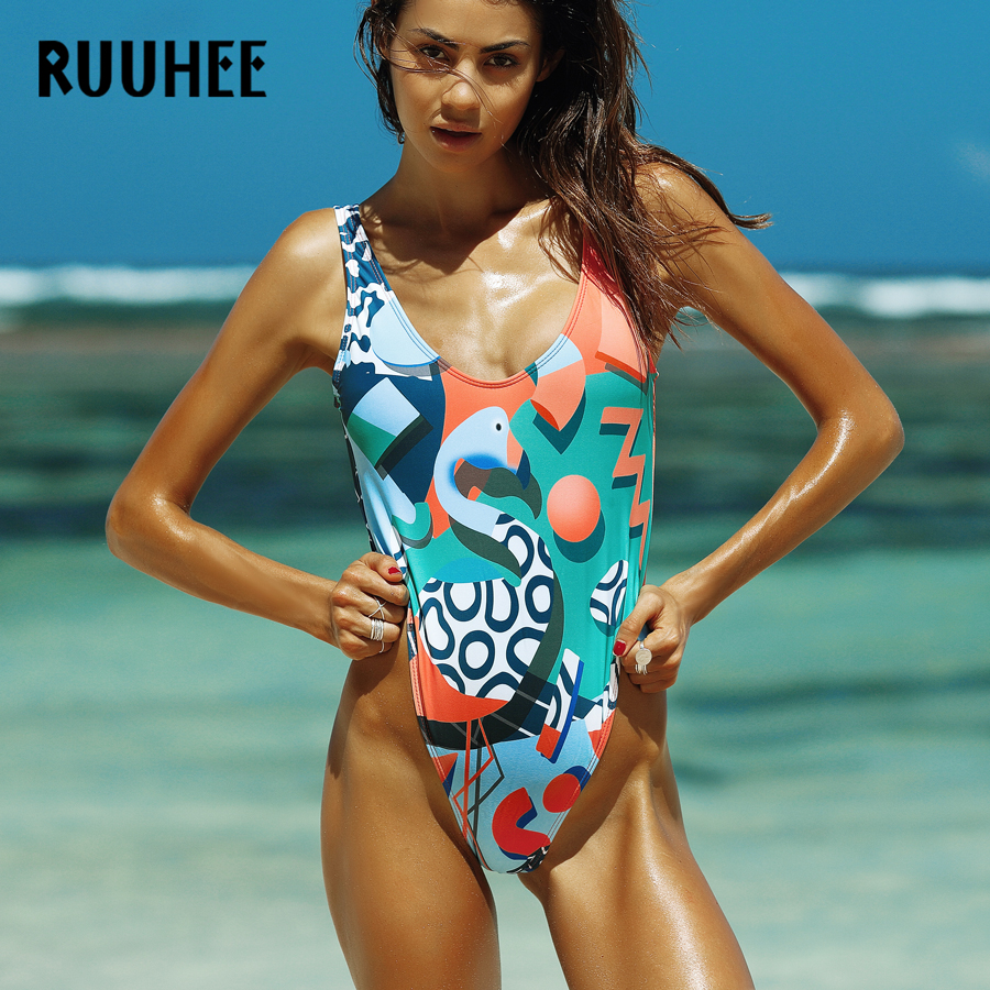 RUUHEE One Piece Swimsuit Swimwear Women 2017 Bodysuit Brand Bathing Suit Swimming Suit Monokini Maillot De Bain Femme Bikini ruuhee brand one piece swimsuit swimwear women bodysuit sexy mesh push up bathing suit monokini maillot de bain femme bikini