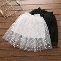 2017 Nuevas Muchachas Lindas de Los Puntos Del Tutú Faldas de Encaje Ruffles Blanco y Negro Color de Fiesta de la Princesa Faldas