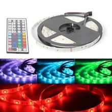KSOL 5M Tape Ribbon Flexible Bright 5050 SMD 150 LED Light RGB Waterproof With Remote Control(China)