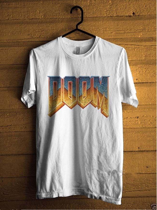 Cool T Shirt Companies Doom Video Game Series Crew Neck Men Short Sleeve Compression T Shirts