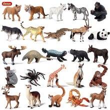 Oenux oryginalne dzikie Zoo imitacje zwierząt figurki postaci lew tygrys koń krokodyl żyrafa figurka kolekcja zabawka dla dzieci