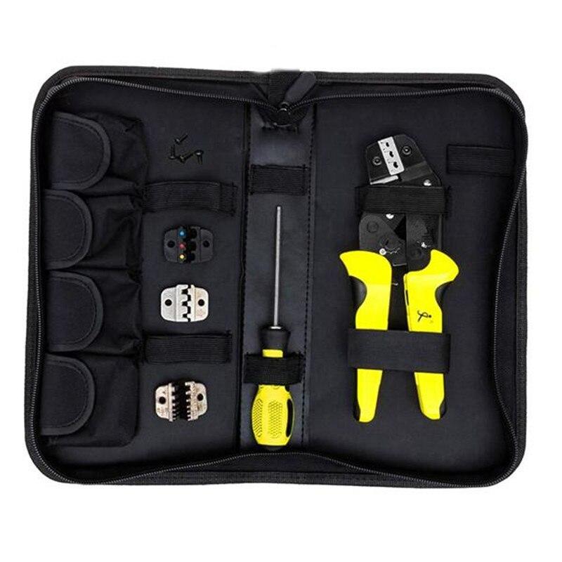 JX-D4 Multifunctional Ratchet Crimping Tool 26-10 AWG Terminals Pliers Kit стоимость