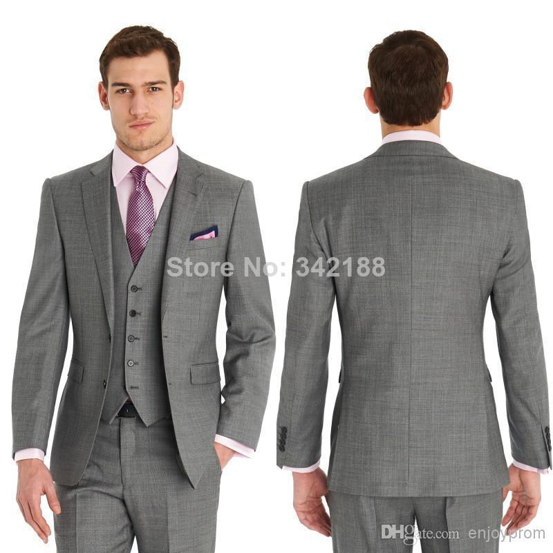 Custom Groom Dress / Gray Dress Cheap Wedding Groomsmen