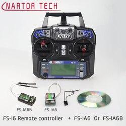 Nartor Flysky FS-i6 2.4G 6ch RC Transmitter Controller FS-IA6/FS-IA6B 2.4G Dual Antenna RC Receiver For Helicopter Quadcopter dr