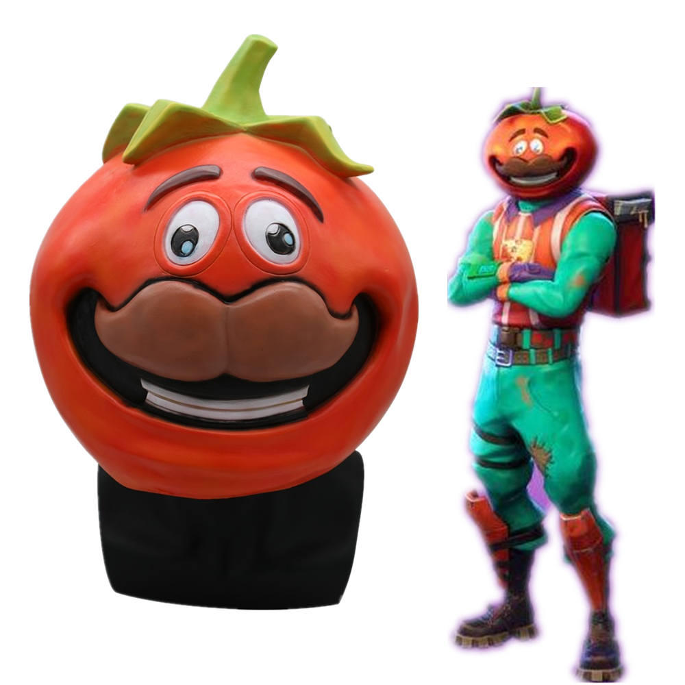 Game Adult Tomatohead Tomato Latex Mask Cosplay Costumes Halloween Party Masks Props