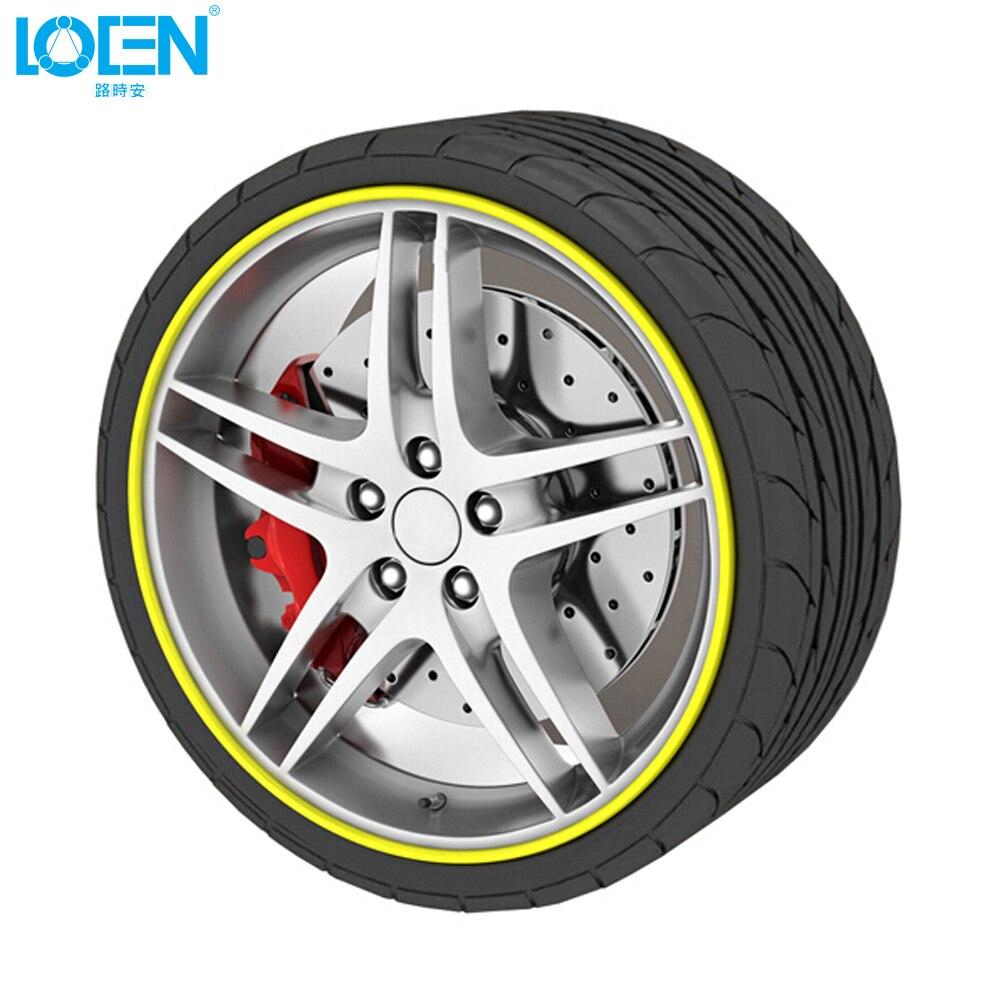 Car Styling 8m/Roll Car Rim wheel Hub Sticker Protector For Ford Toyota VW Mazda Chevrolet Suzuki Ford Hyundai Car Decoration