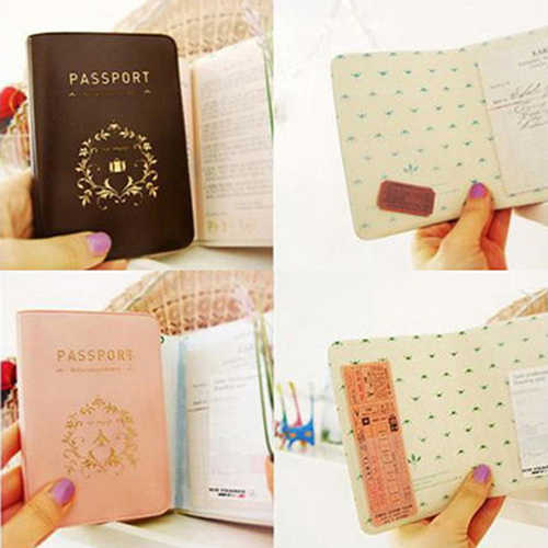 d23ea0064106 Durable Travel Passport Holder Cover Faux Leather ID Card Ticket Organizer  Case
