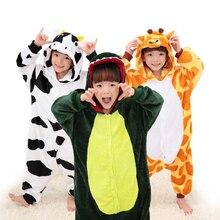 Cosplay Automne Hiver Garçons Pyjamas Set Enfants Pyjamas Licorne Point De Flanelle de Bande Dessinée Animale Enfants Vêtements Bébé Filles Pyjamas