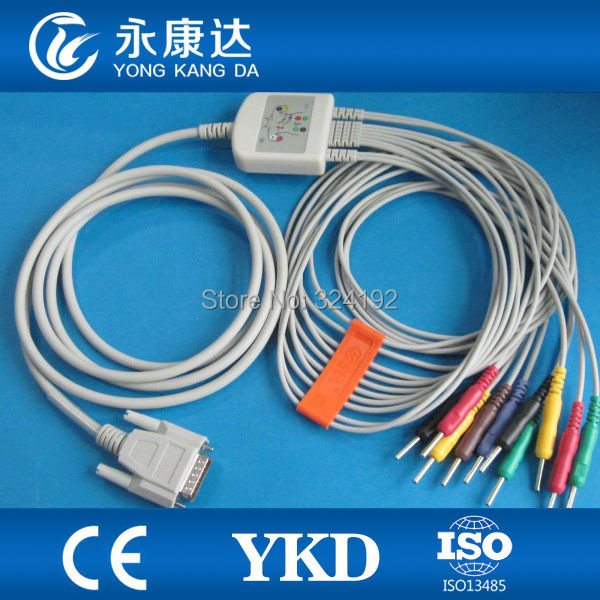 Free shipping Factory supply&brand Nihon Kohden 9130 EKG 10-lead cable with leadwires Din 3.0 plug,medical accessoriesFree shipping Factory supply&brand Nihon Kohden 9130 EKG 10-lead cable with leadwires Din 3.0 plug,medical accessories