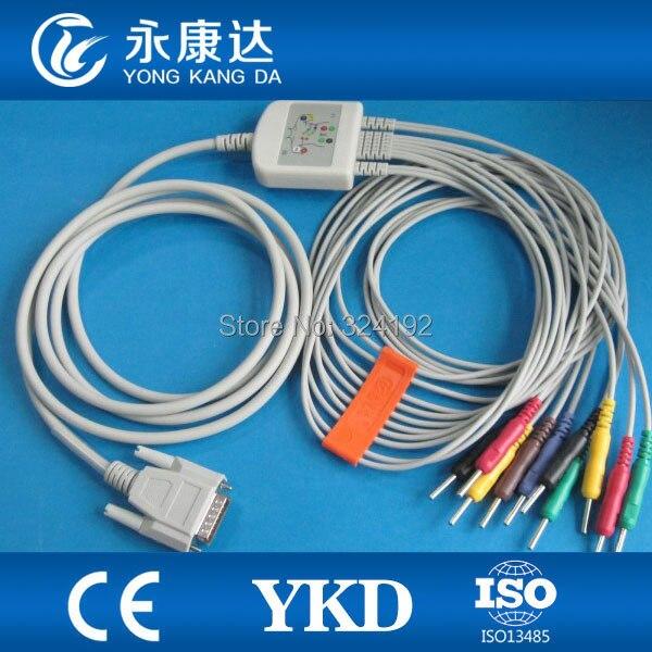 Livraison gratuite approvisionnement d'usine et marque Nihon Kohden 9130 EKG câble 10 fils avec fils Din 3.0 prise, accessoires médicaux
