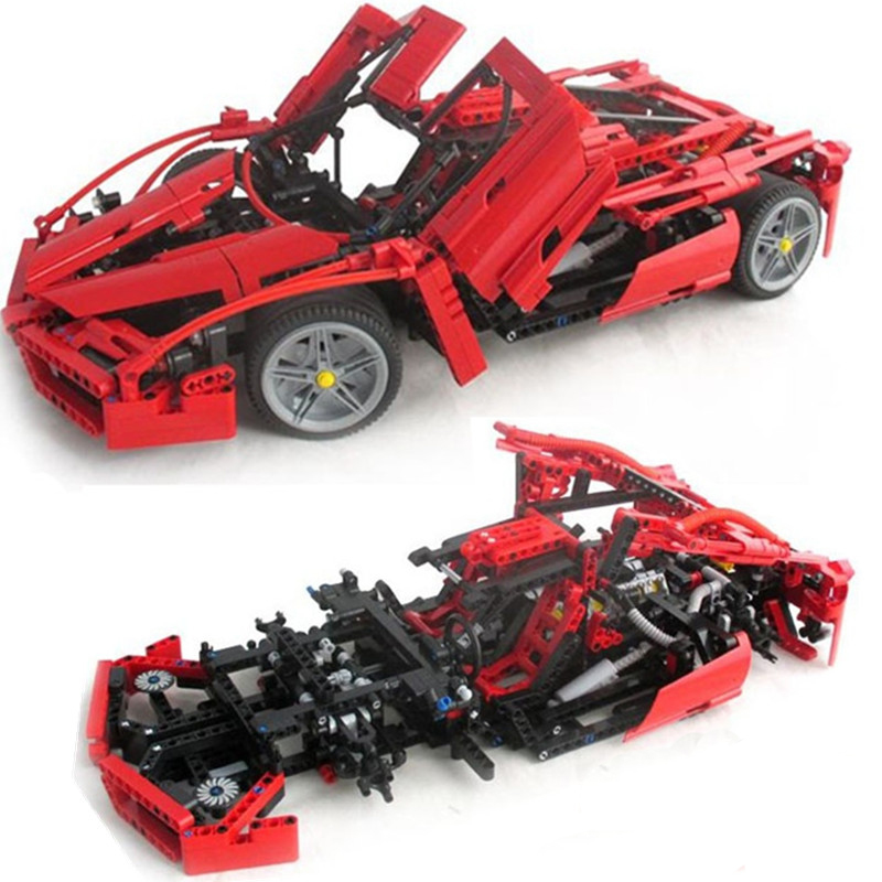 new bela enzo 110 model car minifigres building blocks 1359pcsset educational jigsaw
