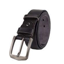 цены на Winter leather belt men wider genuine leather belts for men vintage  buckle men jean's strap black color  free shipping  в интернет-магазинах