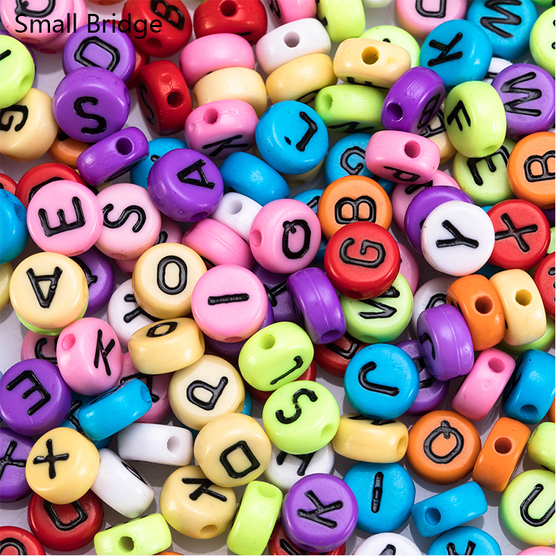 Round Letter Beads