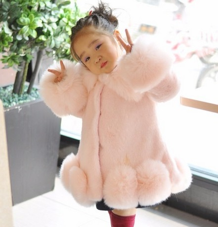 Clobee teenage jackets CHILDREN WINTER COAT GIRL FAUX MINK FUR COAT FOX FUR COAT white THICK WARM OVERCOAT FOR GIRL winter coat transforming hatha yoga