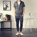 2016 Новый мужской одежды мужской винтаж повседневная комбинезон боди тонкий тенденция любителей мужские лодыжки длины брюки Певица костюмы