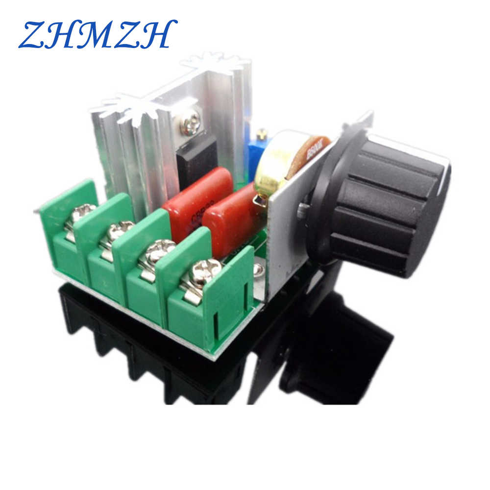 2000W Thyristor Elektronische Dimmer 220V Siliciumgelijkrichter Scr Voltage Regulator Speed Control Thermostaat
